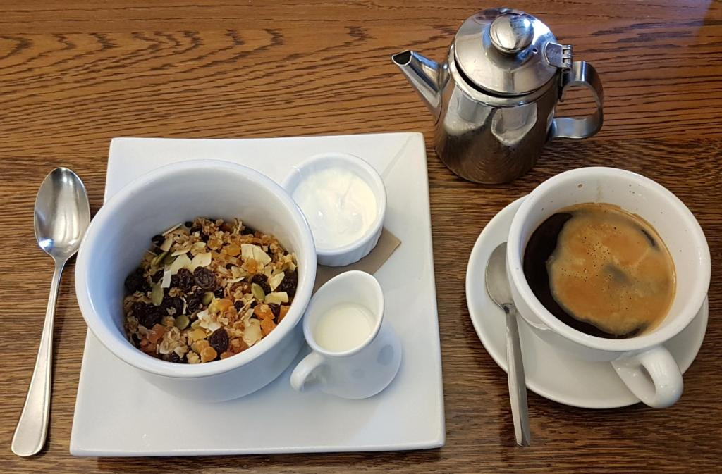 1815 Cafe and Bar muesli and coffee