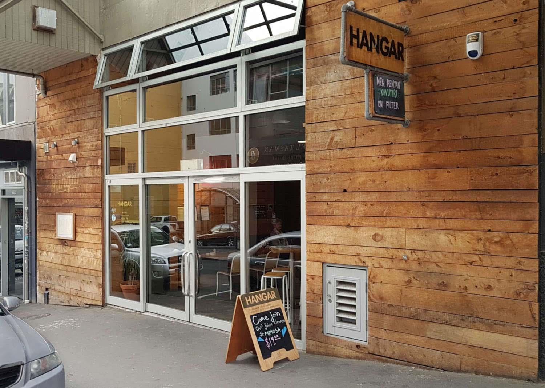 Hangar cafe exterior