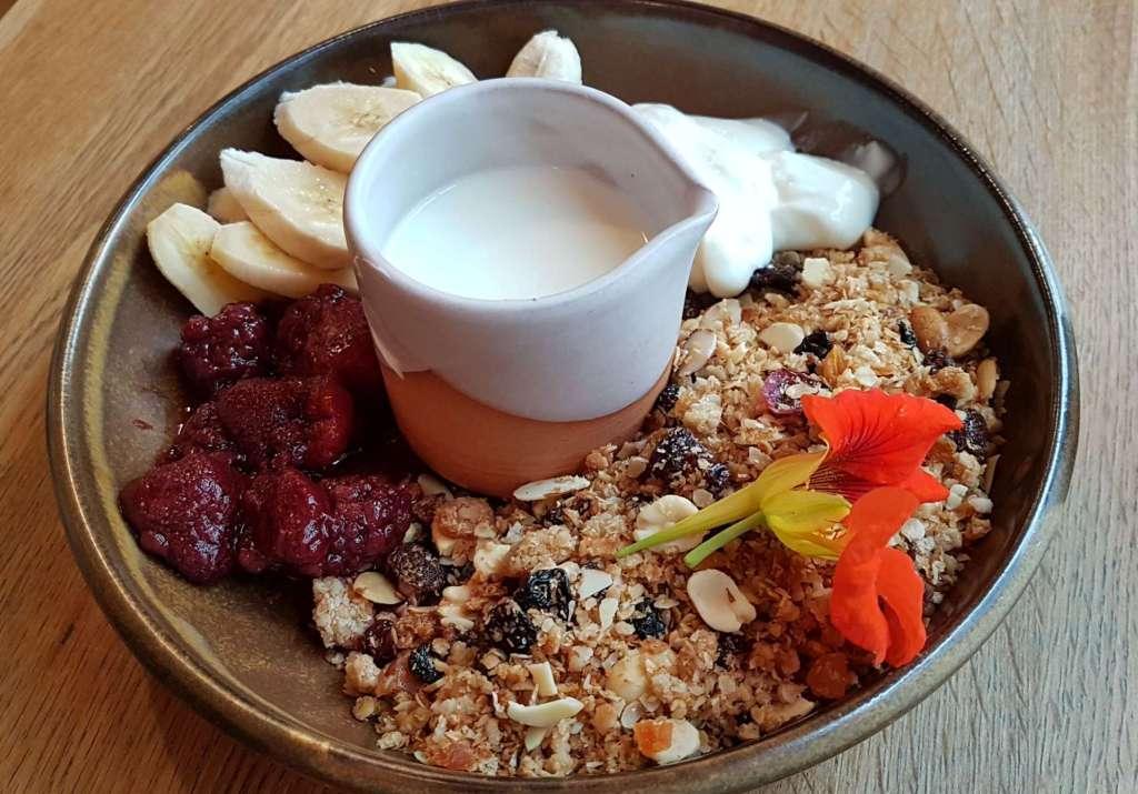 Hangar cafe granola close-up