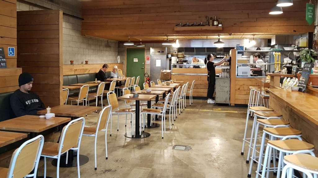 Hangar cafe interior empty