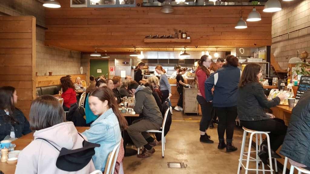 Hangar cafe interior full