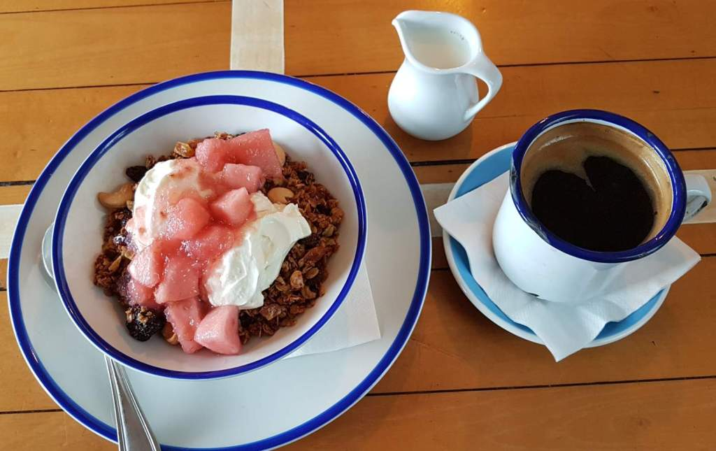 Le Samourai granola and coffee