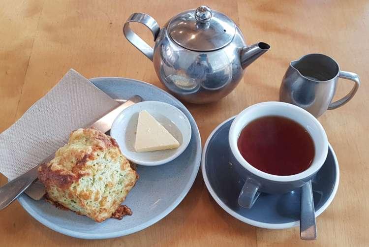 Nikau cafe tea and scone