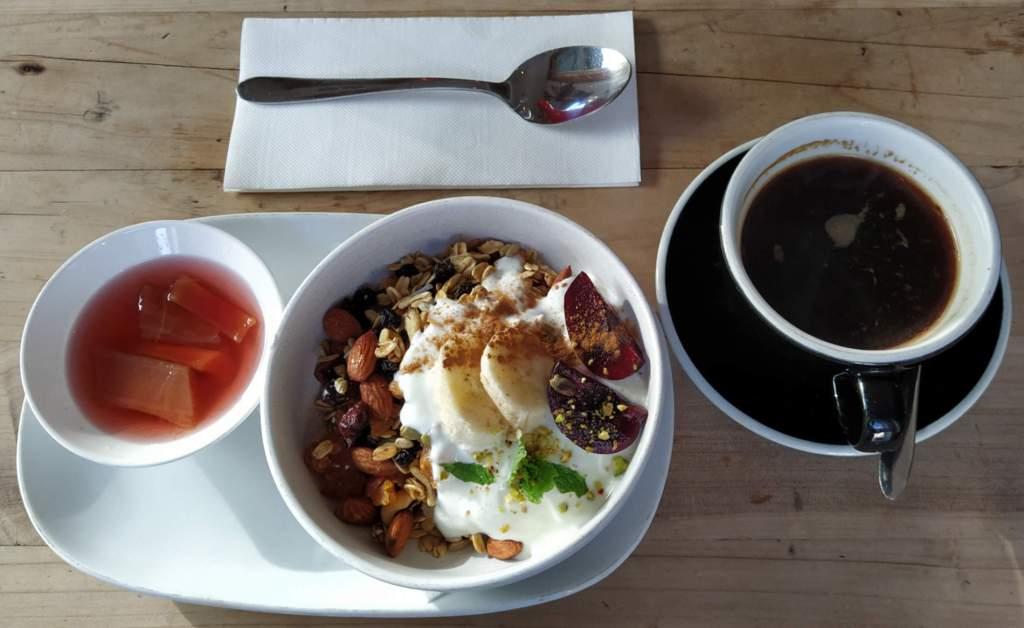 Brooklyn Deli muesli and coffee