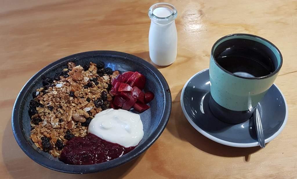 La Cloche granola and coffee