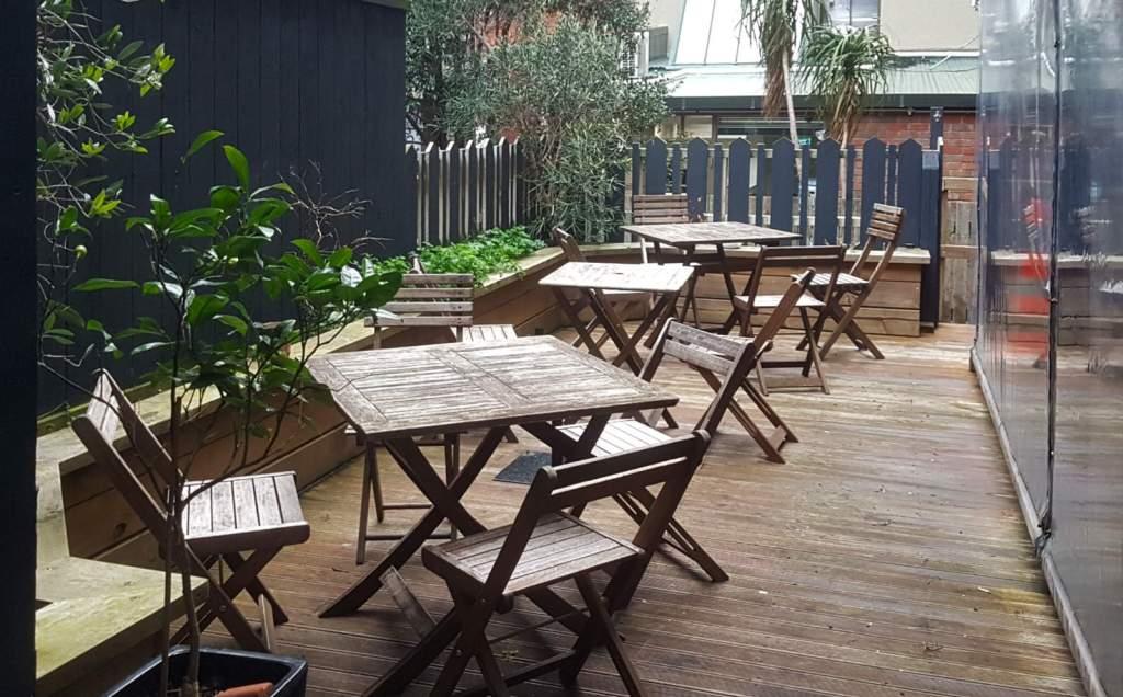Mulberry Garden back garden seating