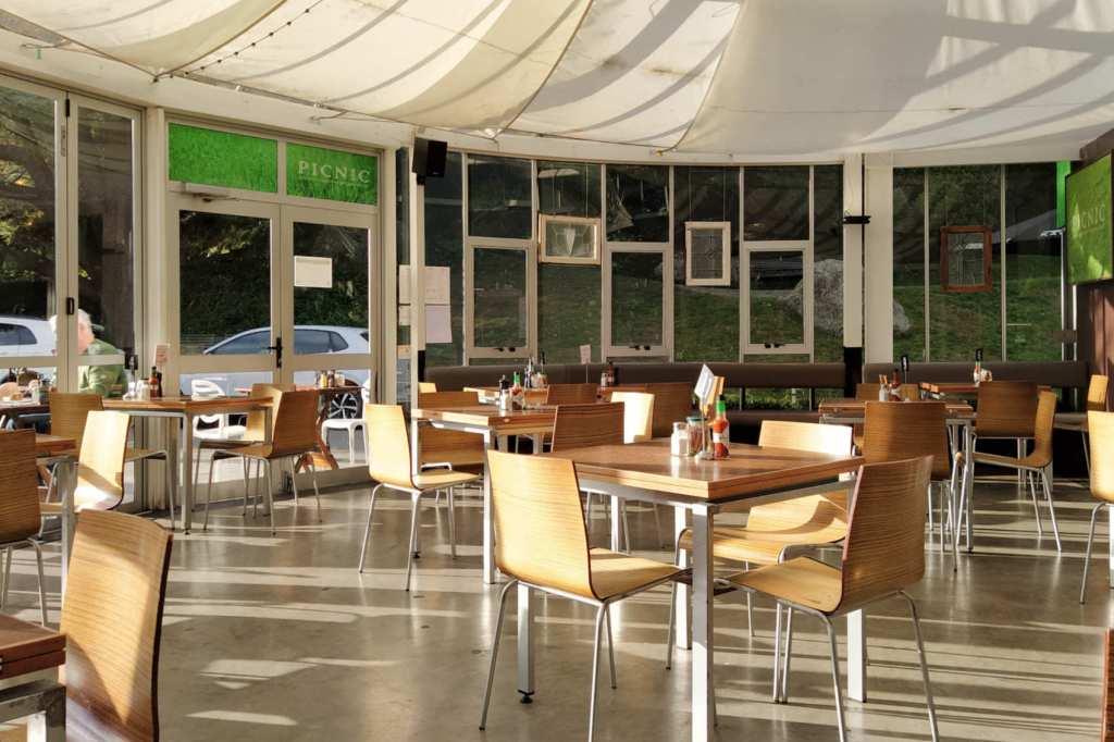 Picnic Cafe interior view towards entrance