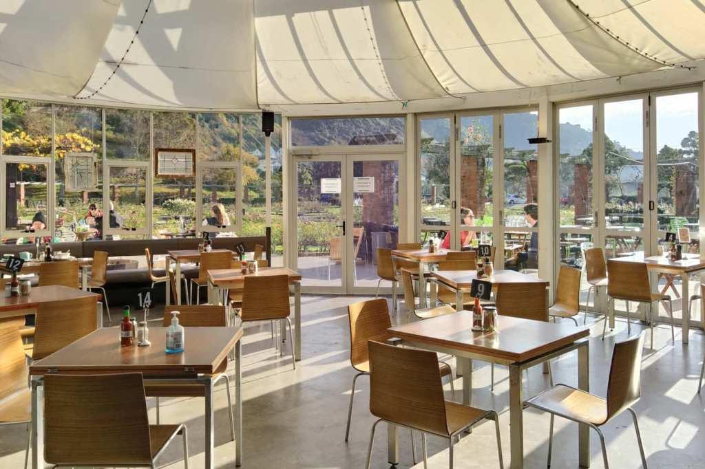 Picnic Cafe interior view towards garden