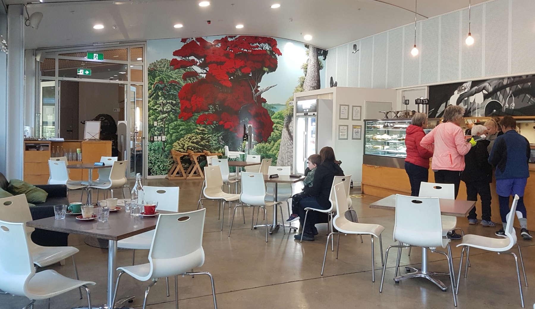 Rata cafe interior view to counter