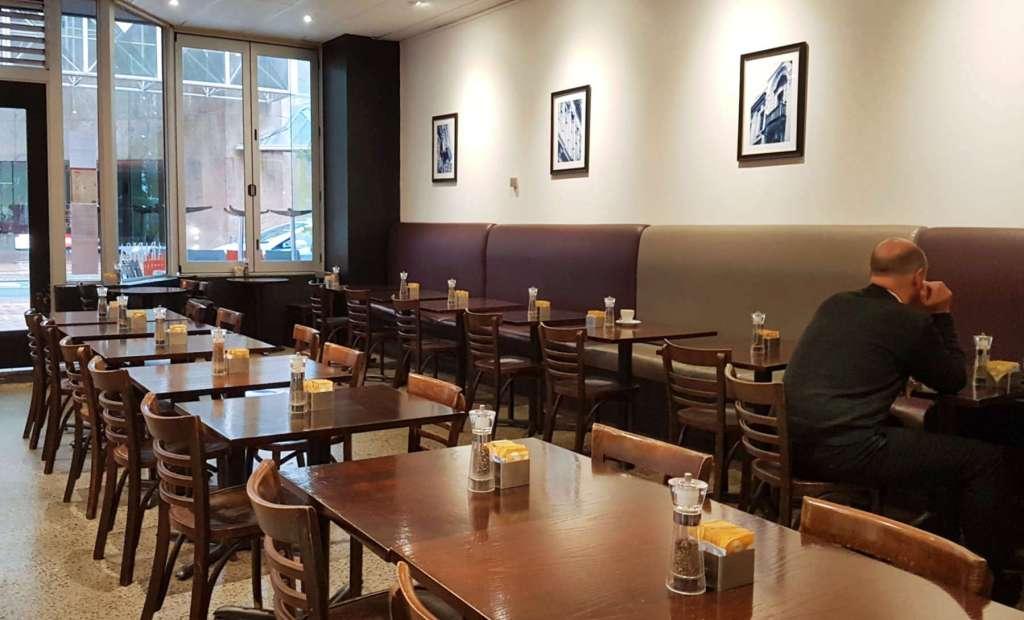 Arabica Cafe view to door