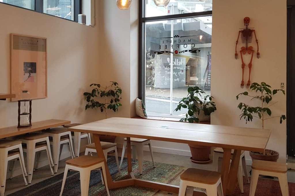 Machete Coffee - interior view to street