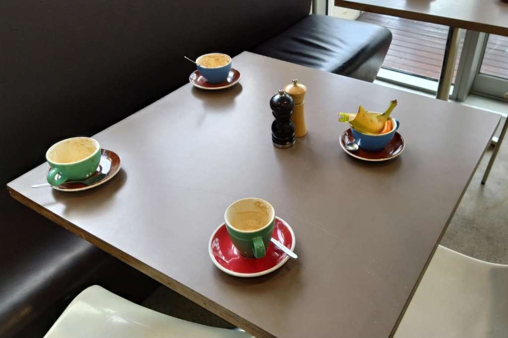 Milk and Honey table and cups