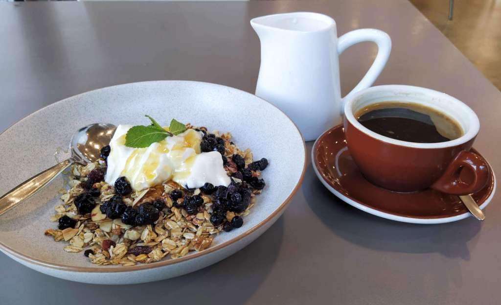 Rata cafe muesli and coffee