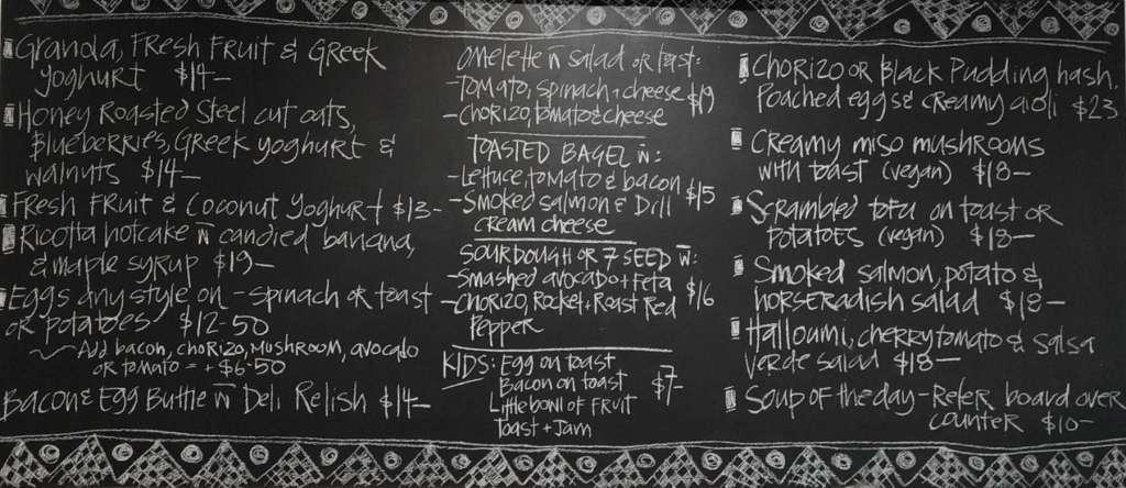 Dunshea's Deli - menu