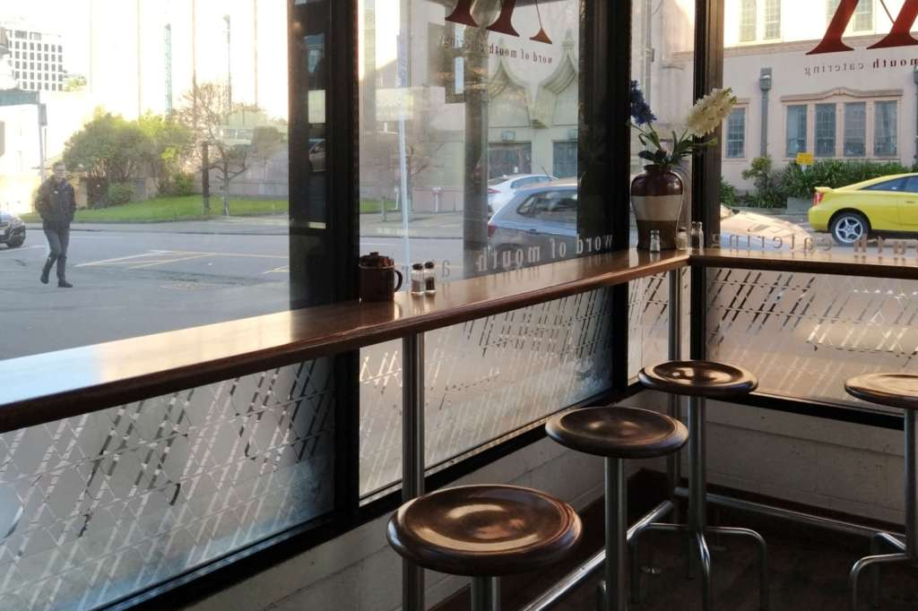 Word of Mouth - interior view, corner bench