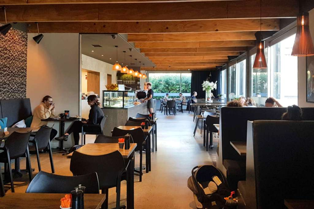 Bellbird Eatery - interior view to south
