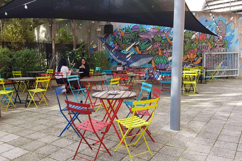 Te Papa Cafe outdoor seating