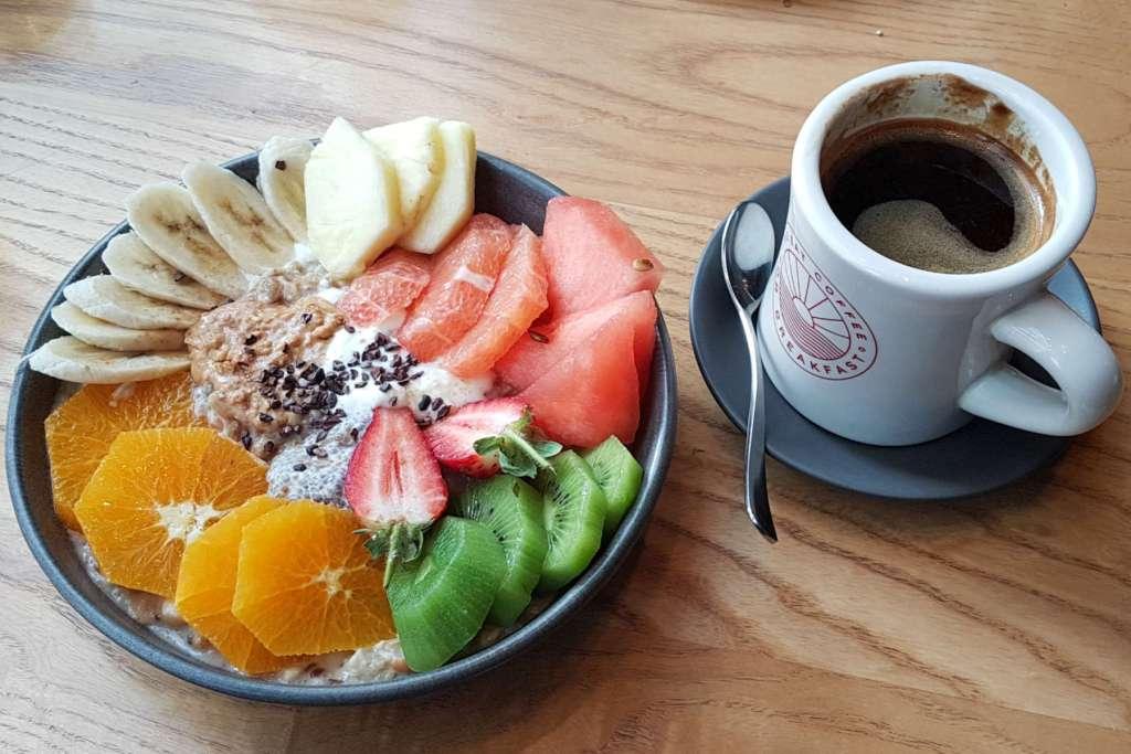 Two Grey - bircher and coffee