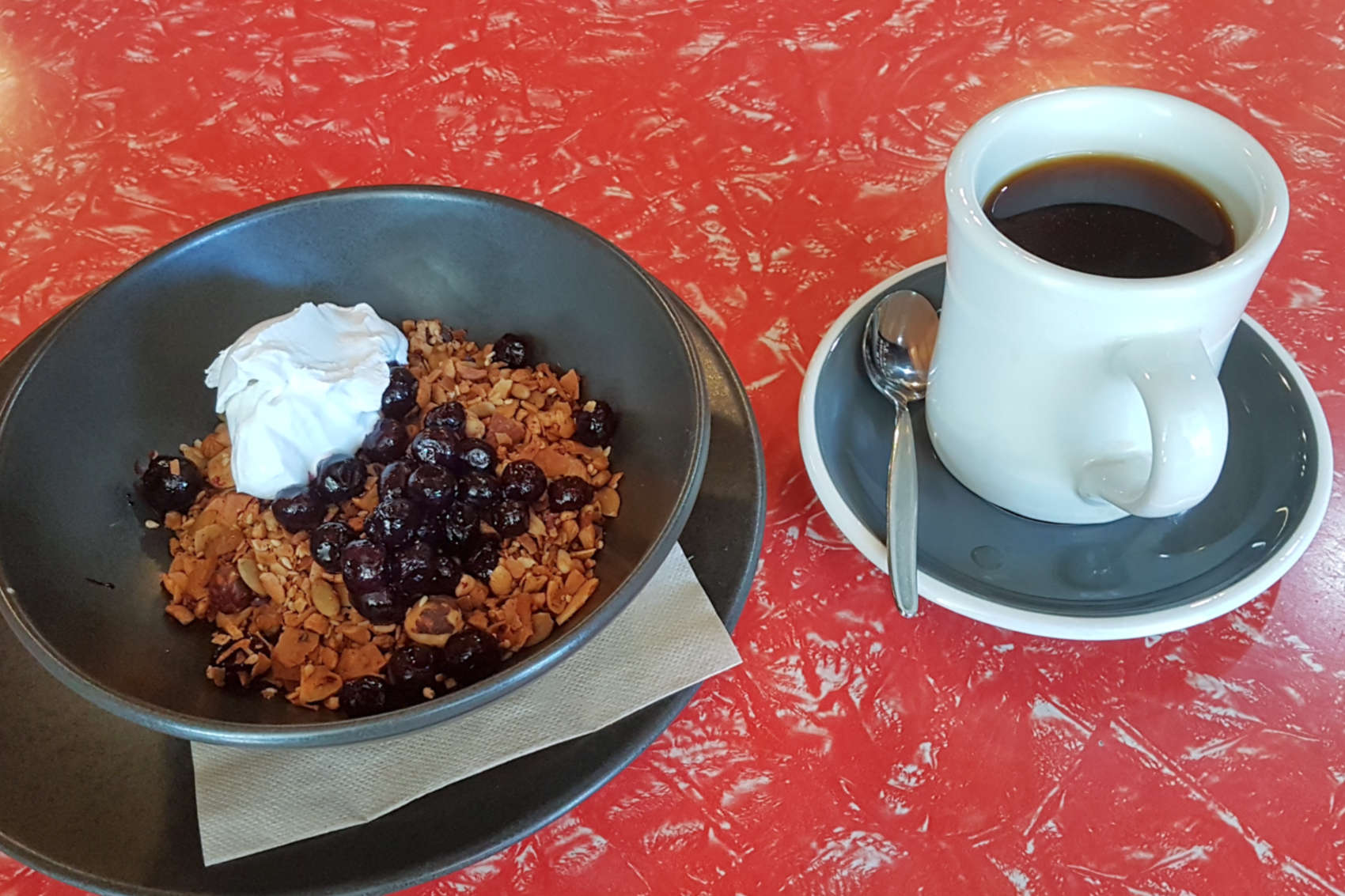 Origin - muesli and coffee