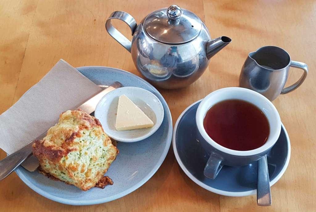 Nikau tea and scone