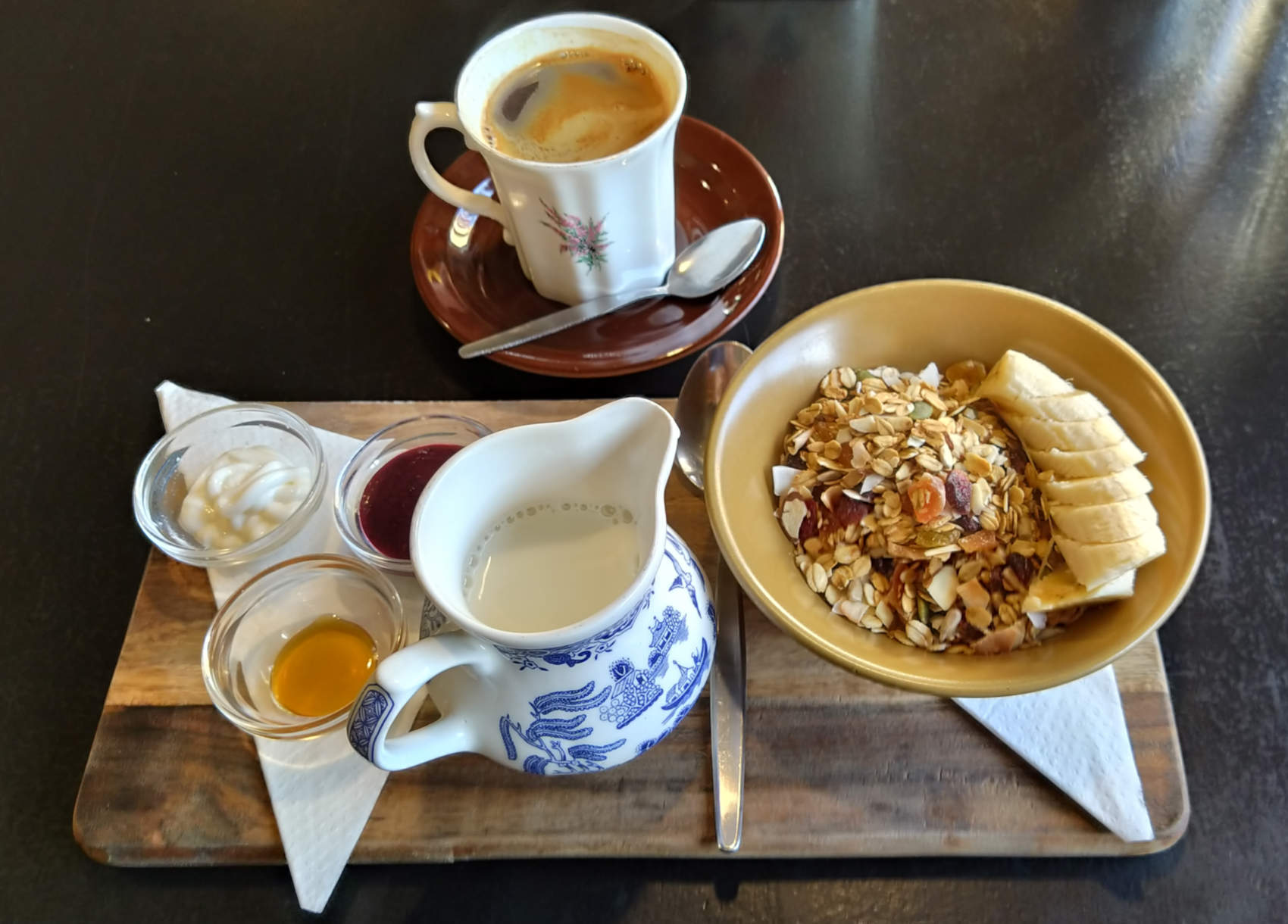 Preservatorium muesli and coffee