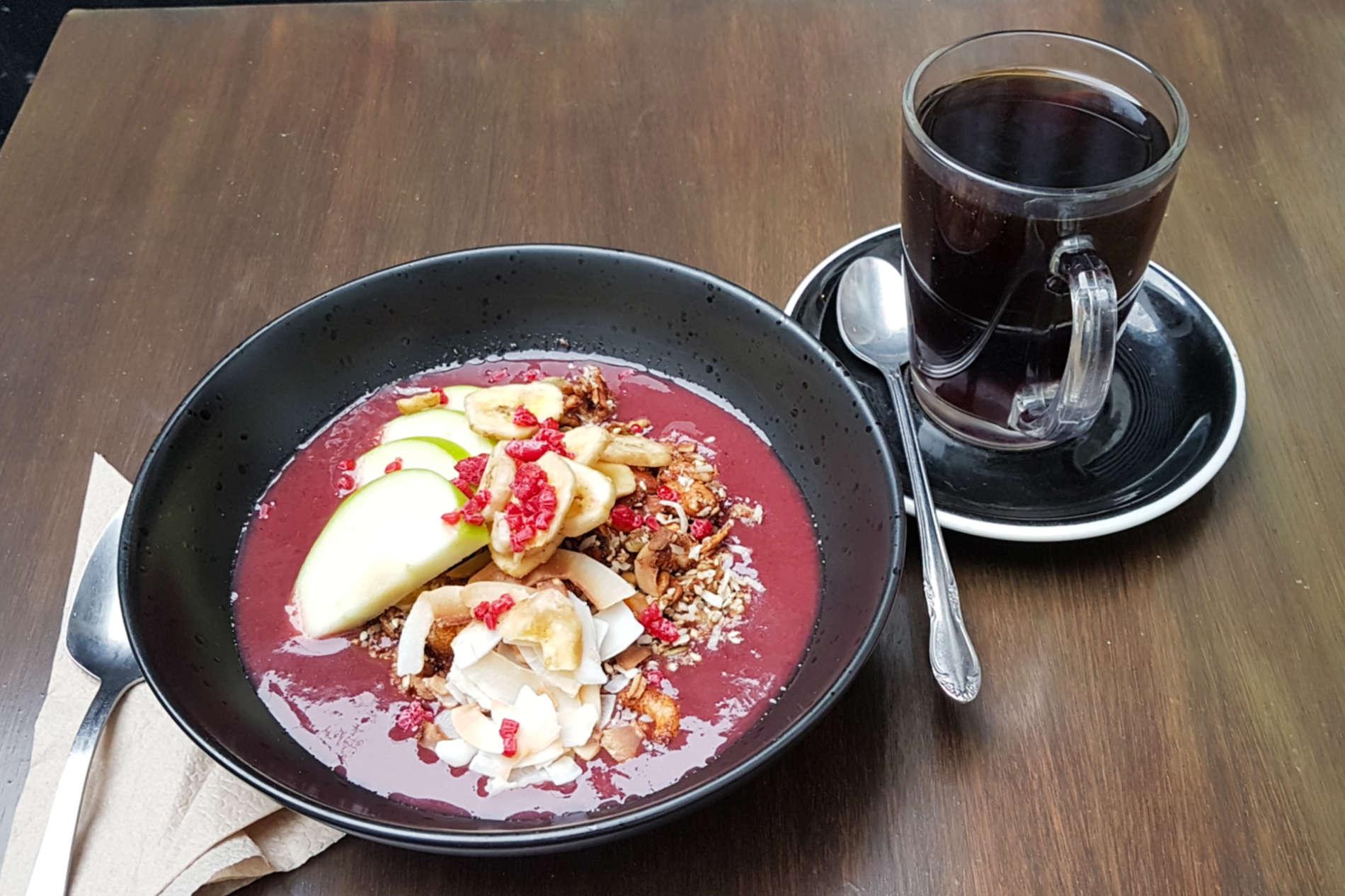 Black Coffee granola and coffee