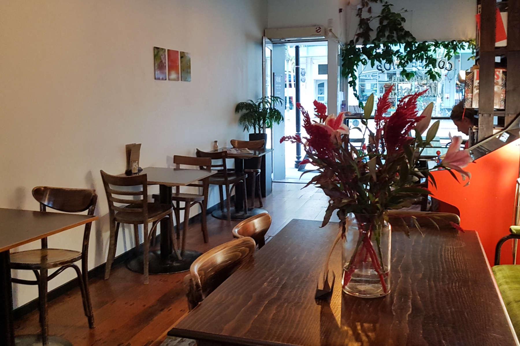 Black Coffee interior to door