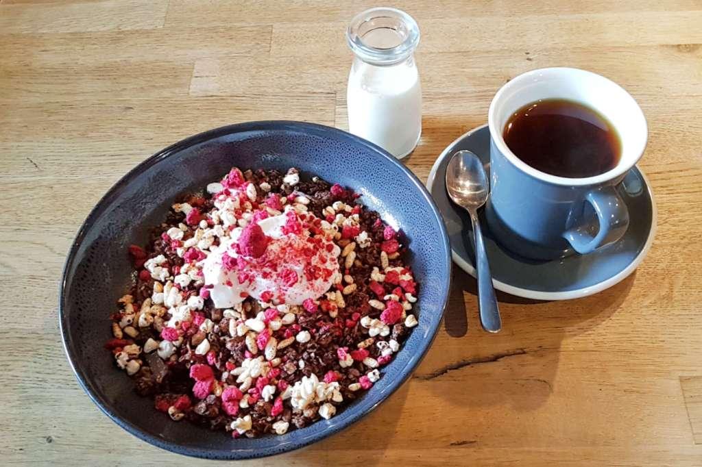 Choice Bros granola and coffee