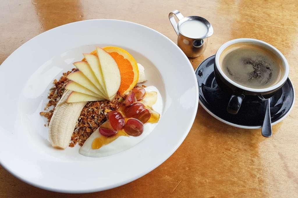 Greta Point Cafe muesli and coffee