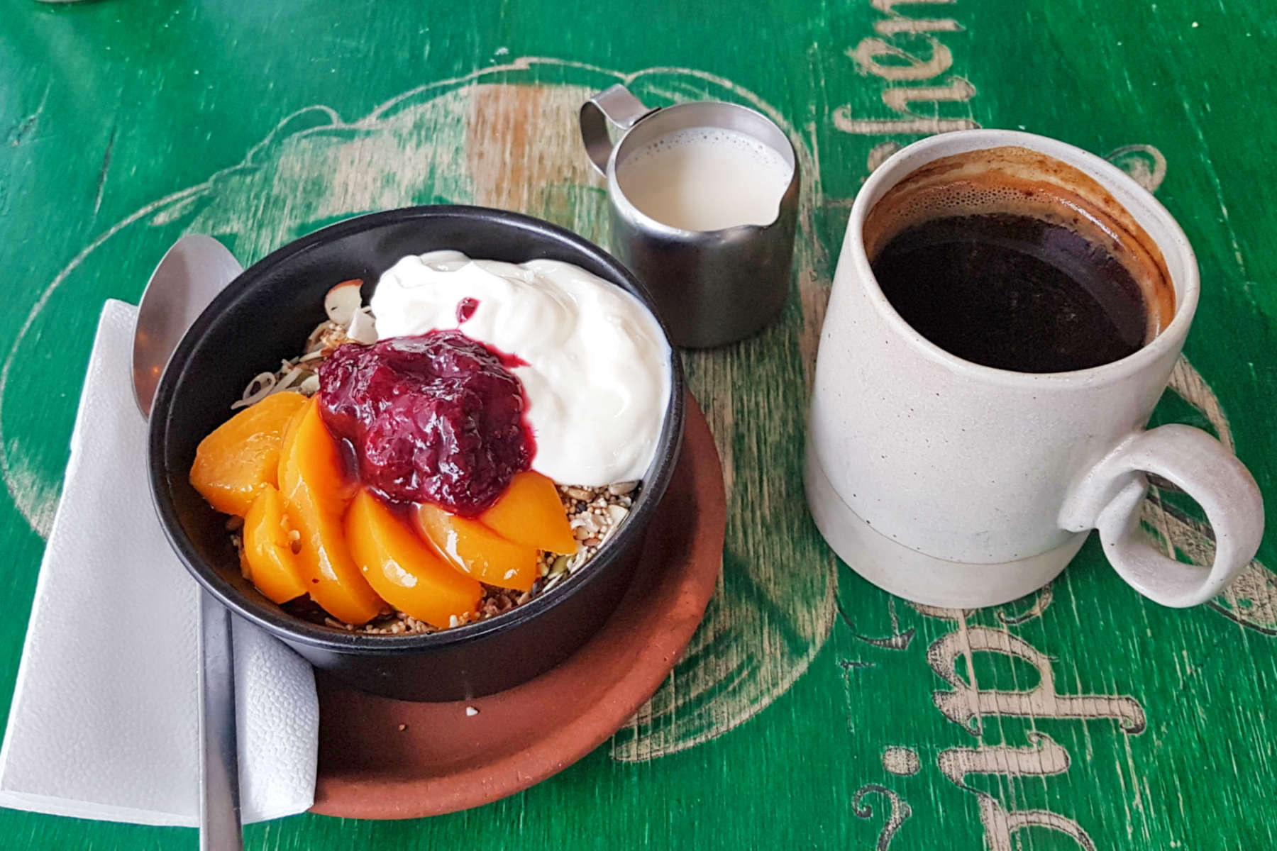 Gypsy Kitchen coffee and muesli