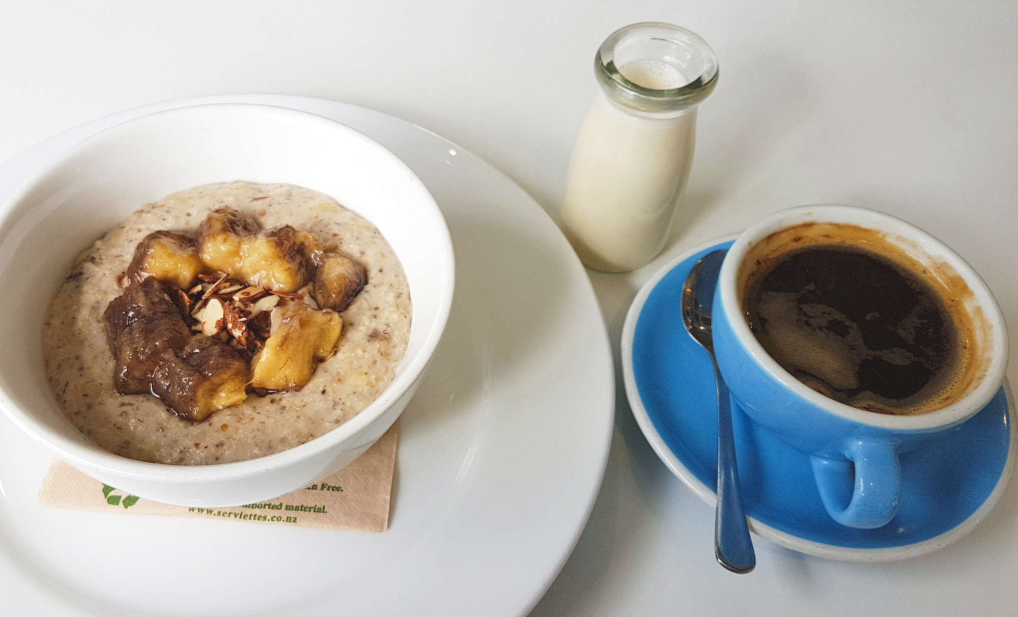 Milk and Honey porridge & coffee