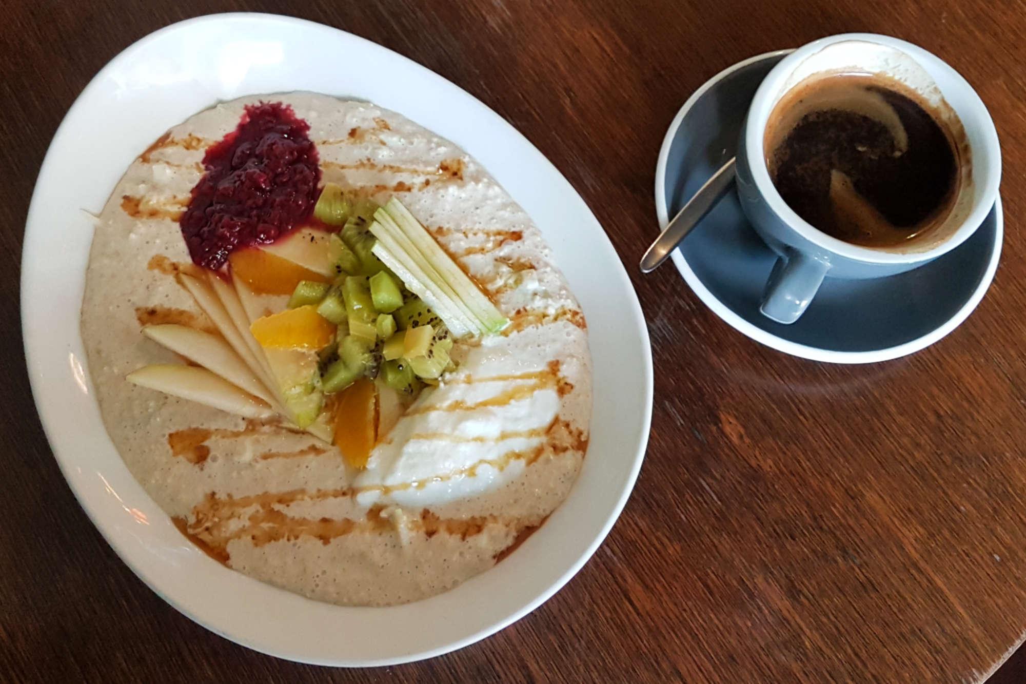 Olive - bircher and coffee