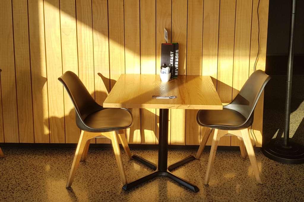 Tutaki interior - seats in sun