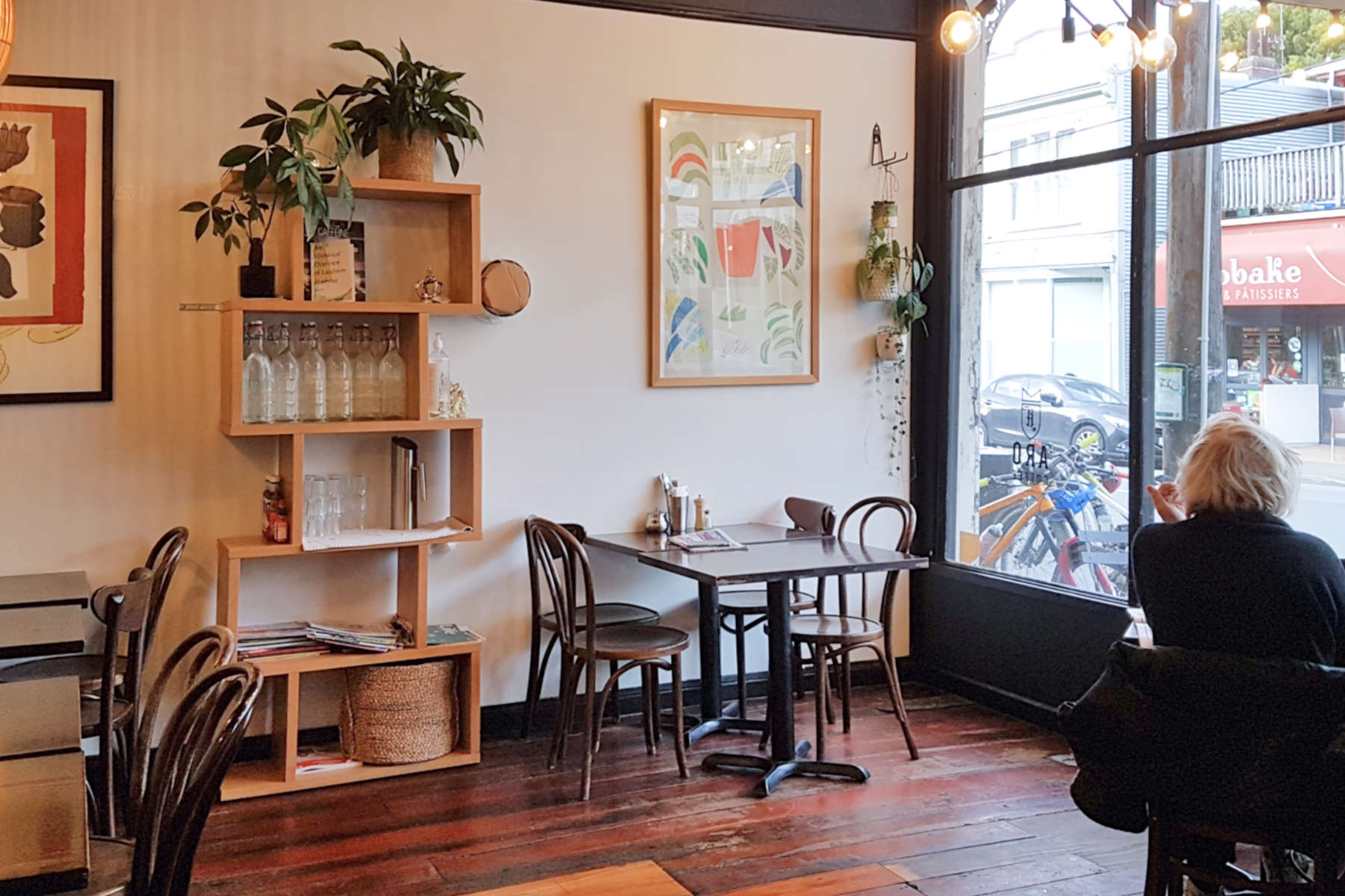 Aro Cafe - front room view to street