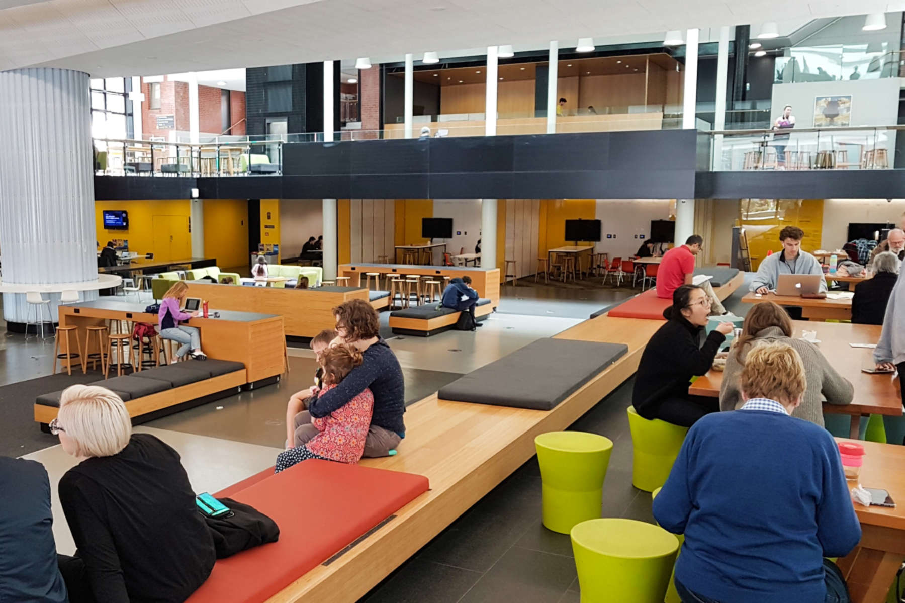 Vic Books - seating in open space