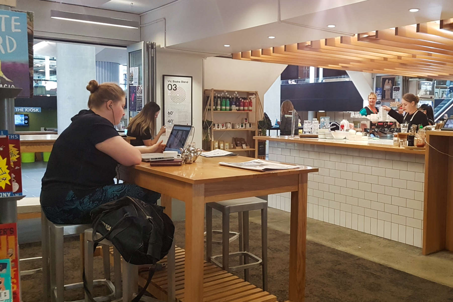Vic Books - seating interior space