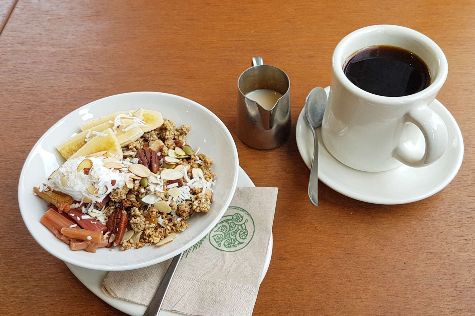Bicycle Junction - granola and coffee