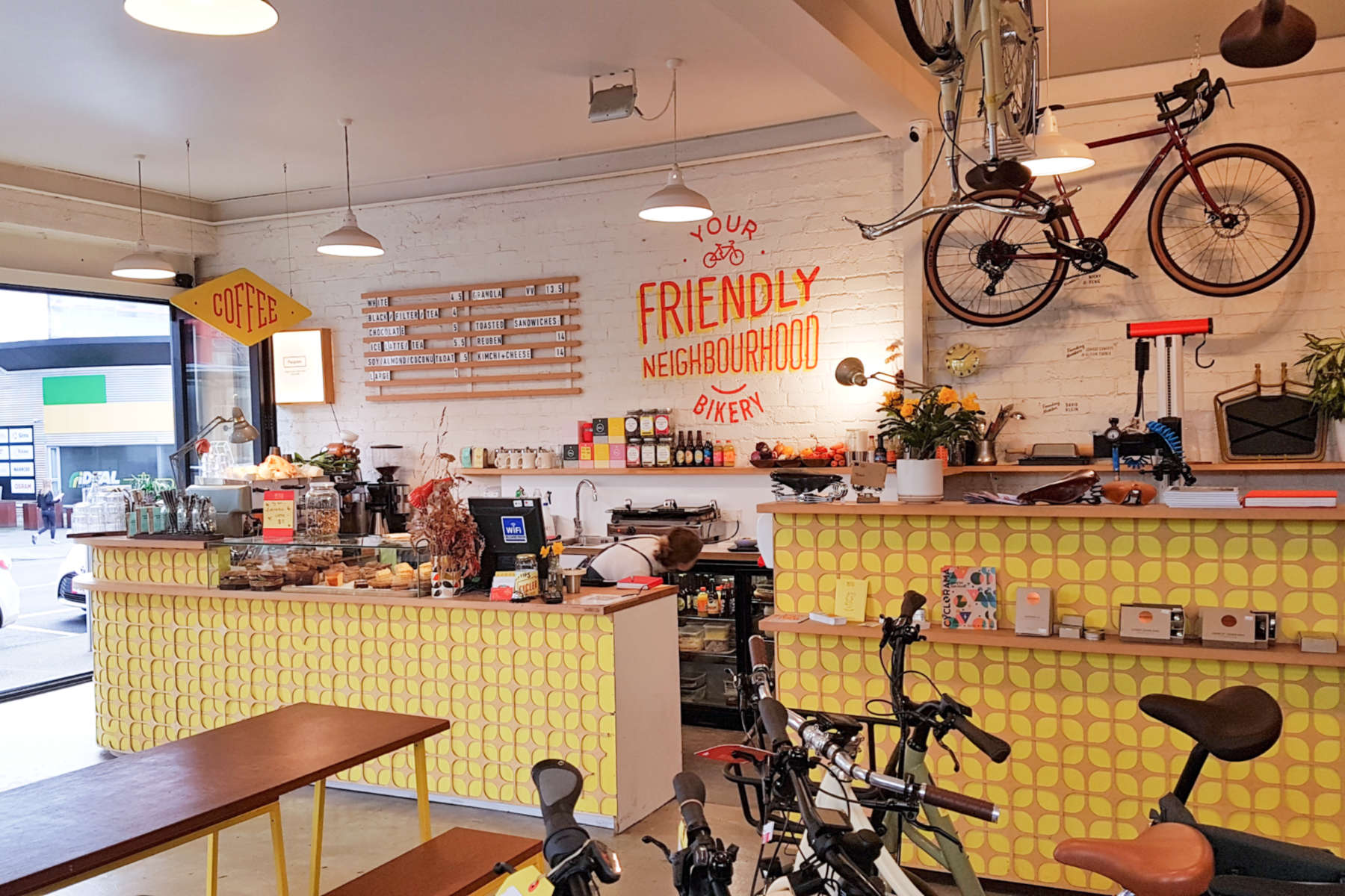 Bicycle Junction - interior view to counter