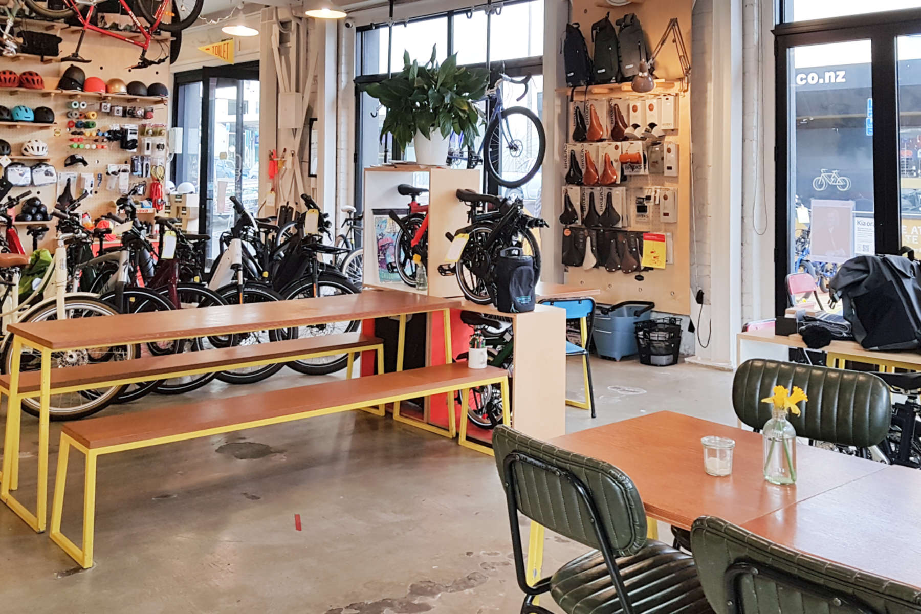 Bicycle Junction - interior view to Marion St